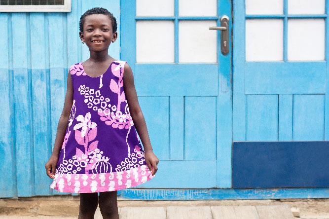 Girls Reversible Dress Marina Purple Fashion