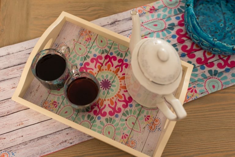 The home accessories products are: trays, glassware, coasters, cushions, runners, table cloths, bags, pouches and frames